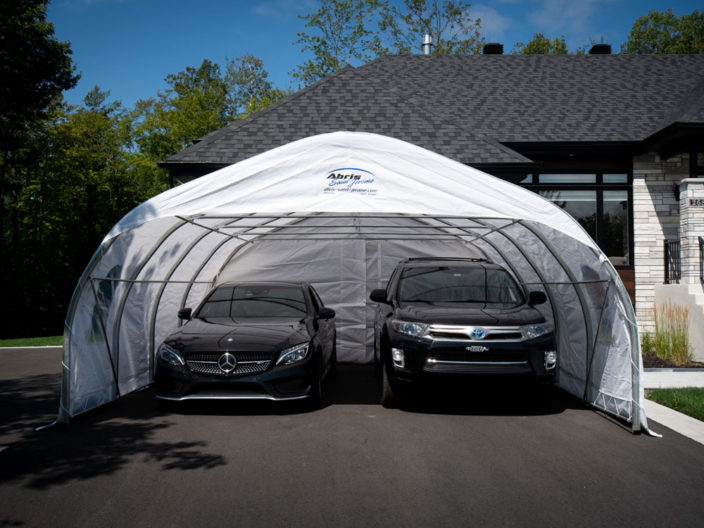 Popular 20' , double car shelter