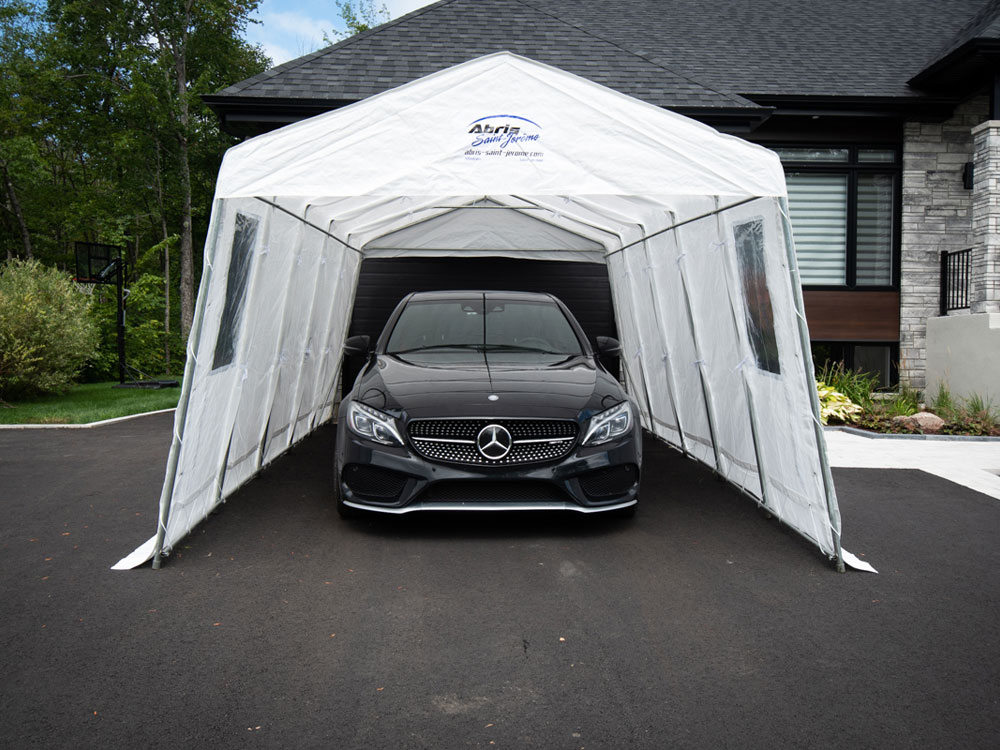 Traditional 11' , single car shelter