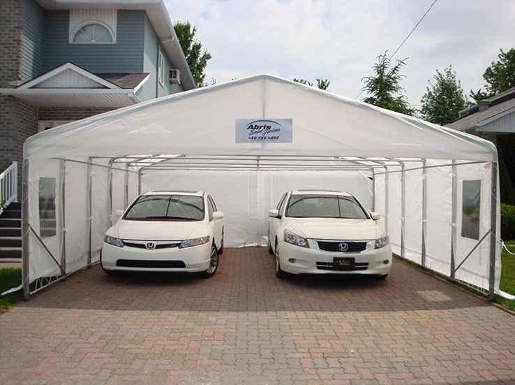 Abri d 39 auto r sidentiel et commercial vente location for Abri auto double costco