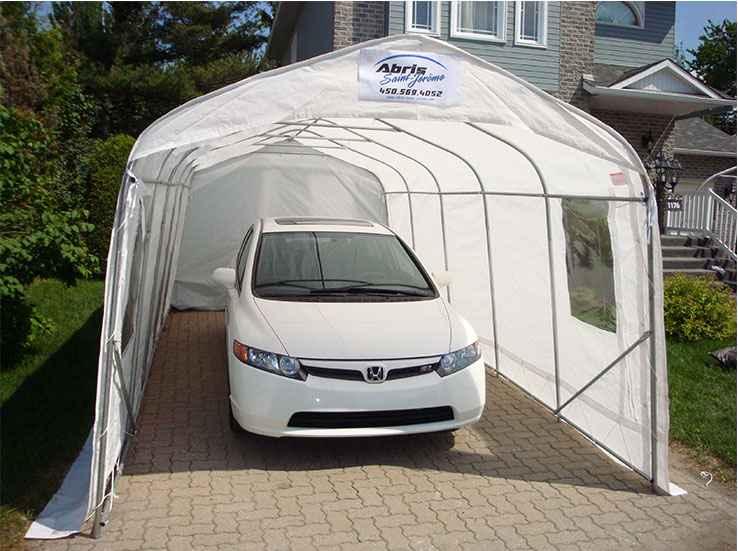 Toile pour carport top toile pour abri de jardin carport - Abri voiture en toile ...